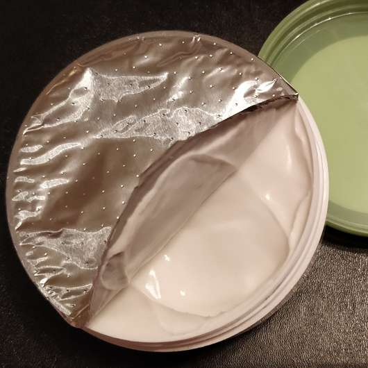 alverde Softcreme Bio-Aloe Vera und Bio-Jojoba - Dose geöffnet