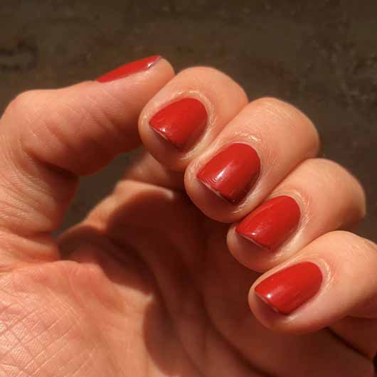 essence the gel nail polish, Farbe: 117 pumpkin spice - Nagellack nach 3 Tagen