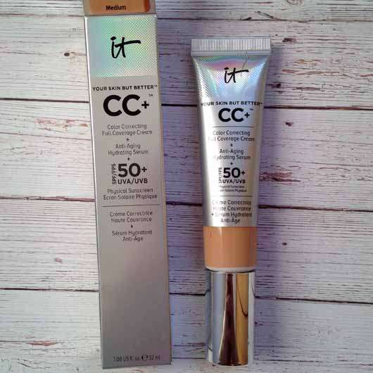 IT Cosmetics Your Skin But Better CC+ Cream mit LSF 50+, Farbe: Medium - Verpackung und Tube