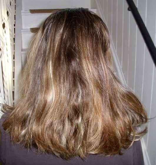 LANGHAARMÄDCHEN Pretty Brown Conditioner - Haare nach der Anwendung