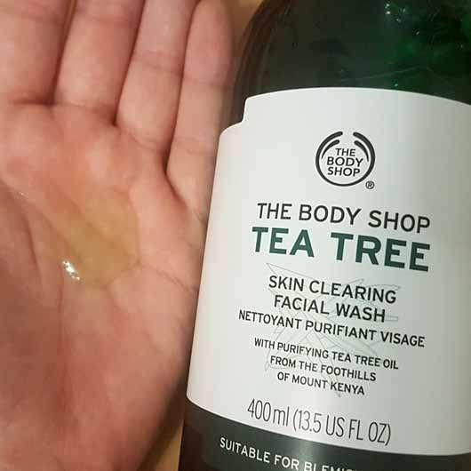 The Body Shop Tea Tree Skin Clearing Facial Wash - Konsistenz