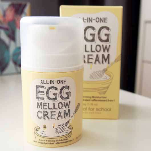 too cool for school EGG Mellow Cream 5-in-1 Firming Moisturizer - Verpackung und Spender