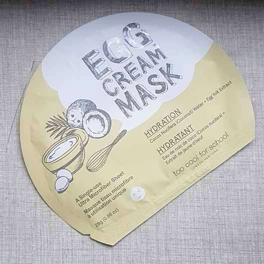 too cool for school EGG Cream Mask Hydration - Sachet