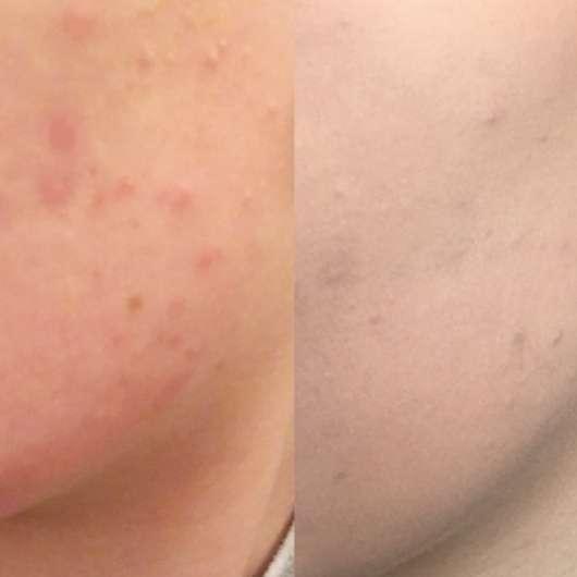 IsaDora Active All Day Wear Make-Up, Farbe: 14 Sand - Gesicht ohne Foundation und mit nach einem Arbeitstag