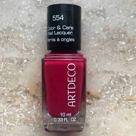 ARTDECO Color & Care Nail Lacquer, Farbe: 554 beautiful raspberry