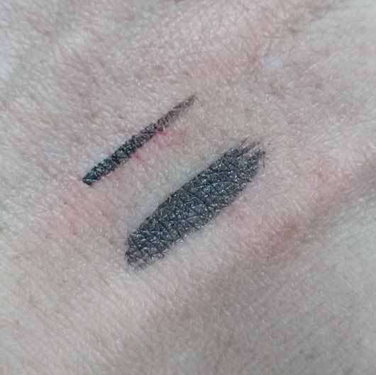 Misslyn Dip Eyeliner, Farbe: 16 graphite - Swatches