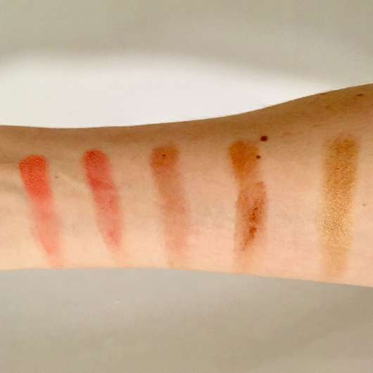 Swatches untere Reihe - bh cosmetics Nude Blush (10 Color Blush Palette)