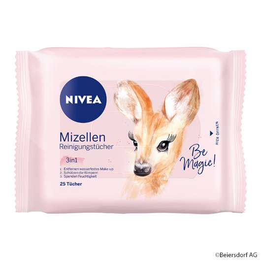 NIVEA Mizellen Reinigungstücher mit Reh-Motiv