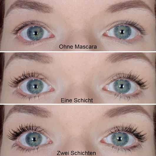 Sleek MakeUP Take You High Lengthening and Defining Mascara, Farbe: Black - auf den Wimpern