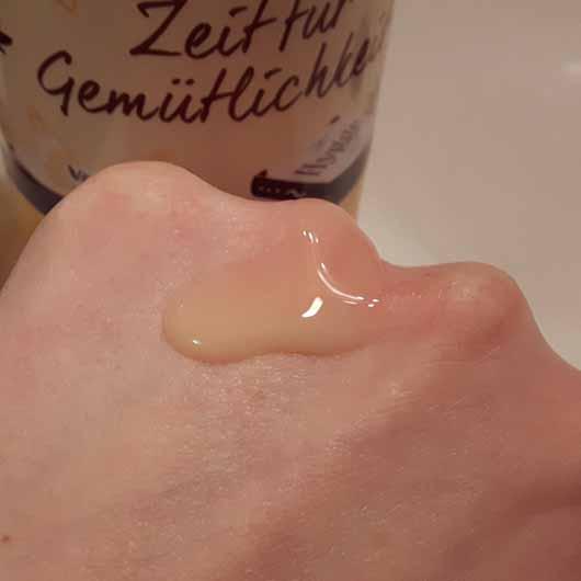 t: by tetesept Zeit für Gemütlichkeit Creme-Schaumbad - Konsistenz