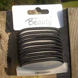 """Produktbild zu for your Beauty Basic Haargummis """"Steffi"""" – Farbe: Schwarz"""