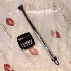 Produktbild zu KISS Professional New York Top Brow Brow Cream + Brow Brush – Farbe: Chocolate