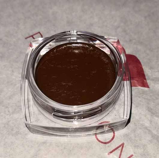 KISS Professional New York Top Brow Brow Cream + Brow Brush, Farbe: Chocolate - Tiegel geöffnet