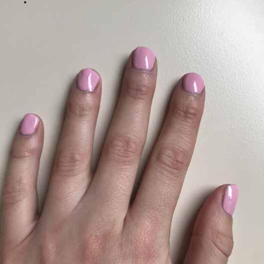 SensatioNail Express Gel Starter Set, Farbe: Made Him Blush - Lack auf den Nägeln vor der Aushärtung