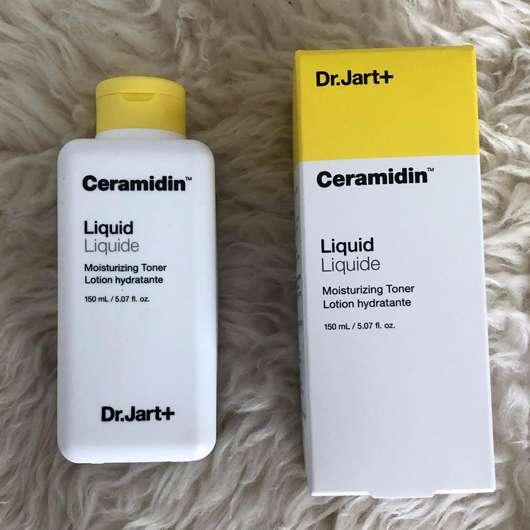 Dr.Jart+ Ceramidin Liquid Moisturizing Toner - Verpackung und Flasche