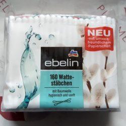 Produktbild zu ebelin 160 Wattestäbchen (Nachfüllpack)