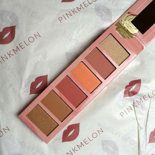essence hey cheeks blush, bronzer & highlighter palette - geöffnet