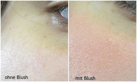 essence my glow passion blush - Collage ohne und mit Blush