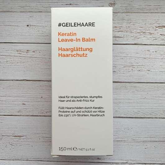 <strong>#GEILEHAARE</strong> Keratin Leave-In Balm Haarglättung