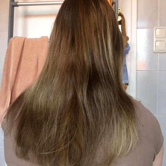 nju by xLaeta refresh with nju peach Shampoo (LE) - Haare nach der Anwendung