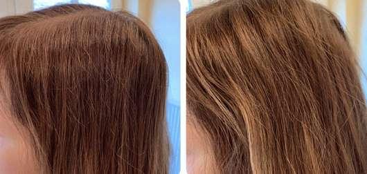 Schwarzkopf 3 Wetter taft Casual Chic Texturierendes Trockenspray - Haare vor und nach der Anwendung