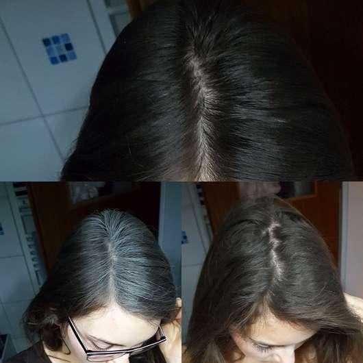 Batiste Blush Dry Shampoo - Haare vorher, Konsistenz auf den Haaren, nach dem Entfernen