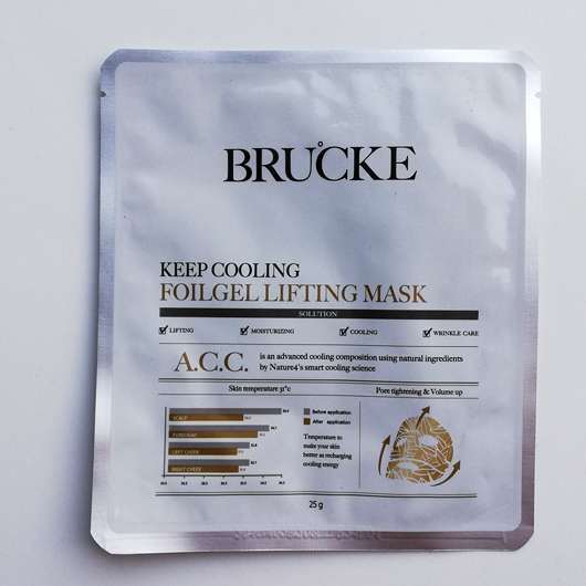 <strong>BRUCKE</strong> Keep Cooling Foilgel Lifting Mask