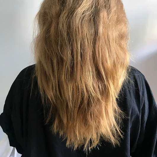 #GEILEHAARE Diplex Disulfid Haarkur Haarreparatur - Haare vor der Testphase