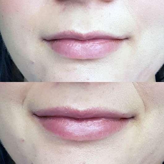 ISANA Lippenpflege Intensiv (mit Sheabutter & Traubenkernöl) - Lippen ohne und mit Lippenpflege