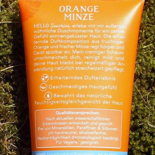 t: by tetesept Hello Sunshine Aroma-Pflegedusche (LE) - Rückseite