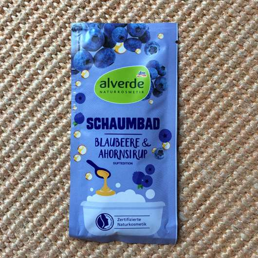 <strong>alverde Naturkosmetik</strong> Schaumbad Blaubeere & Ahornsirup