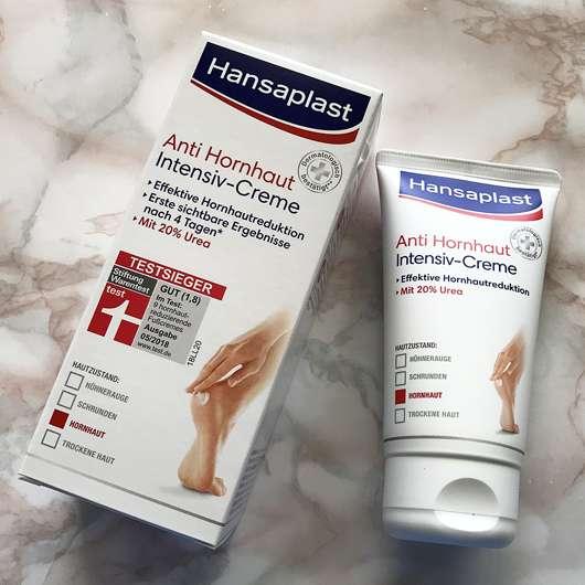 Hansaplast Anti Hornhaut Intensiv-Creme (mit 20% Urea) - Details auf der Verpackung