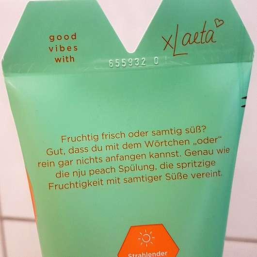 nju by xLaeta refresh with nju peach Spülung (LE) - Details auf der Tube