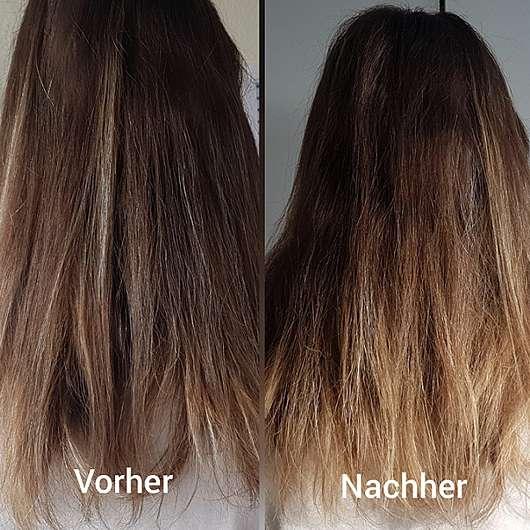nju by xLaeta refresh with nju peach Spülung (LE) - Haare vor und nach der Anwendung