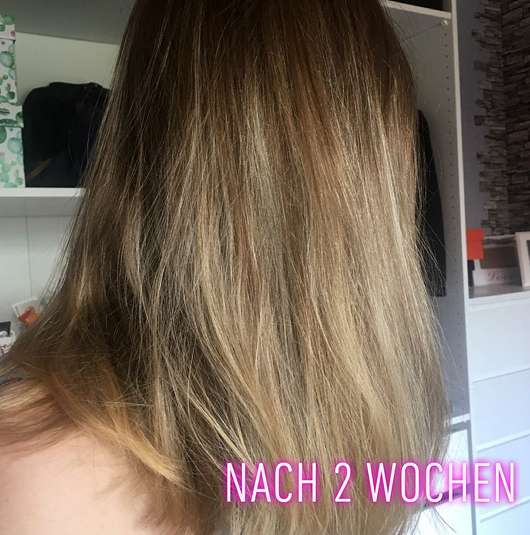 nju by xLaeta refresh with nju peach Shampoo (LE) - Haare nachher