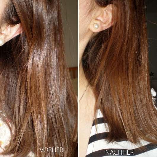 #GEILEHAARE Keratin Repair Conditioner - Vorher / Nachher der Haare