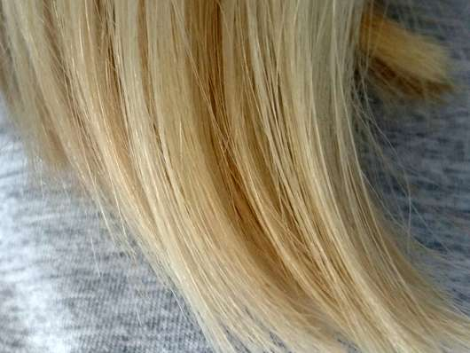 alverde Schaumfestiger Bio-Lotusblüte Bio-Violetter Reis - Haare nachher