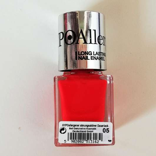 <strong>Bell HYPOAllergenic</strong> Long Lasting Nail Enamel - Farbe: 05 orange red