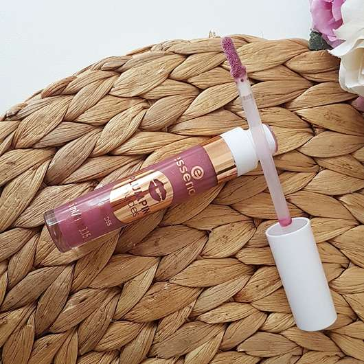 essence plumping nudes lipgloss, Farbe: 07 so heavy! Applikator