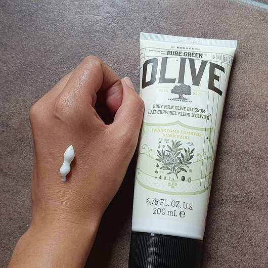 KORRES Olive & Olivenblüte Bodymilk - Konsistenz