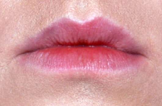 Shiseido VisionAiry Gel Lipstick, Farbe: 223 Shizuka Red - Lippen ungeschminkt
