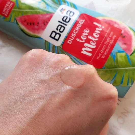 Balea Duschgel Love Melon (LE) - Konsistenz