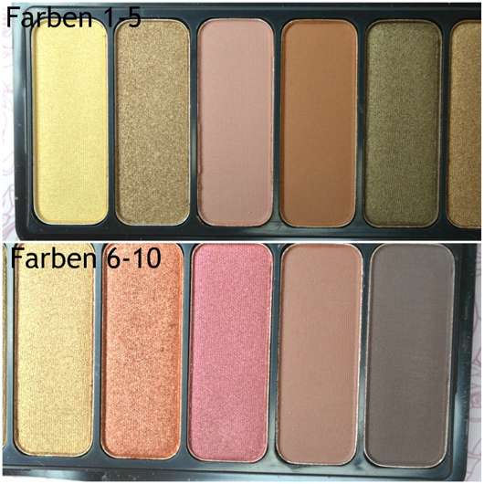 e.l.f. Cosmetics Rose Gold Eyeshadow Palette, Farbe: Sunset - alle Farben
