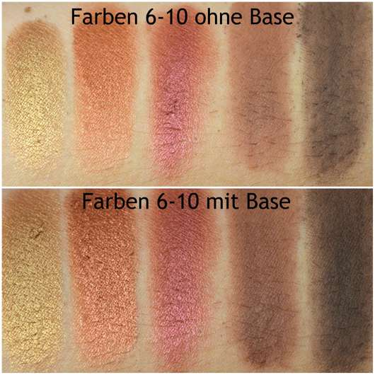 e.l.f. Cosmetics Rose Gold Eyeshadow Palette, Farbe: Sunset - alle Swatches
