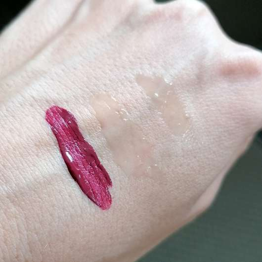 Mary Kay Ultra Stay Lip Lacquer Kit, Farbe: Plum (LE) - Swatches aller drei Produkte
