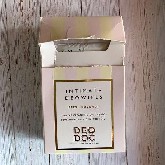 DeoDoc Intimate Deowipes Fresh Coconut