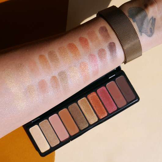 e.l.f. Cosmetics Rose Gold Eyeshadow Palette, Farbe: Sunset - Swatches