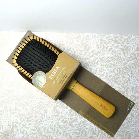 PARSA Beauty Paddle-Haarbürste Bambus