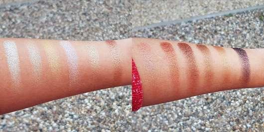 Pixi Eye Reflection Shadow Palette, Farbe: Reflex Light - Swatches, Farben von links nach rechts (Vanilla Glitz – Cocoa Glaze) ohne Base