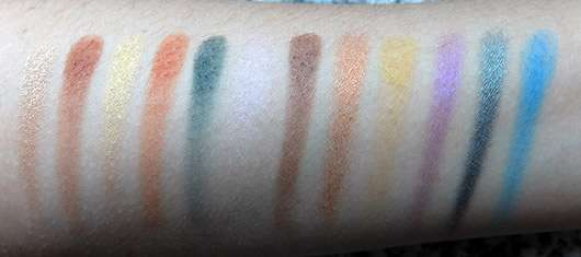 Sleek MakeUP i-Divine Mineral Based Eyeshadow Palette, Farbe: Colour Carnage - Swatches ohne Base